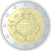 2 euro 2012 Estonia 10° Anniversario Euro