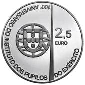 2,5 euro Portogallo 2011 100º Istituto dei ragazzi dell'esercito